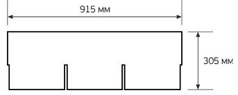 Схема гонта черепицы CertainTeed CT20
