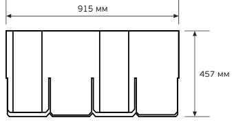 Схема гонта черепицы CertainTeed Grand Manor
