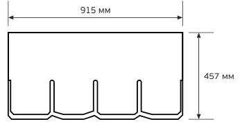 Схема гонта черепицы CertainTeed Highland Slate