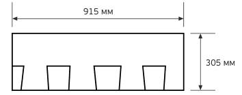Схема гонта черепицы CertainTeed Landmark