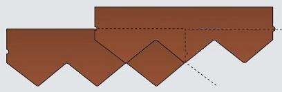 Схема черепицы Катепал Фокси