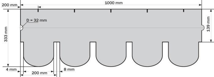 Схема черепицы Ruflex Ornami
