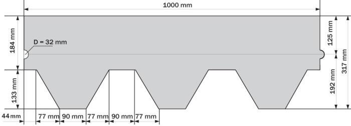Схема черепицы Ruflex Mint Sota